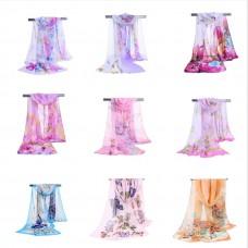 Шифоновые платки в конверте шарфы оптом 100 штук по 350 рублей