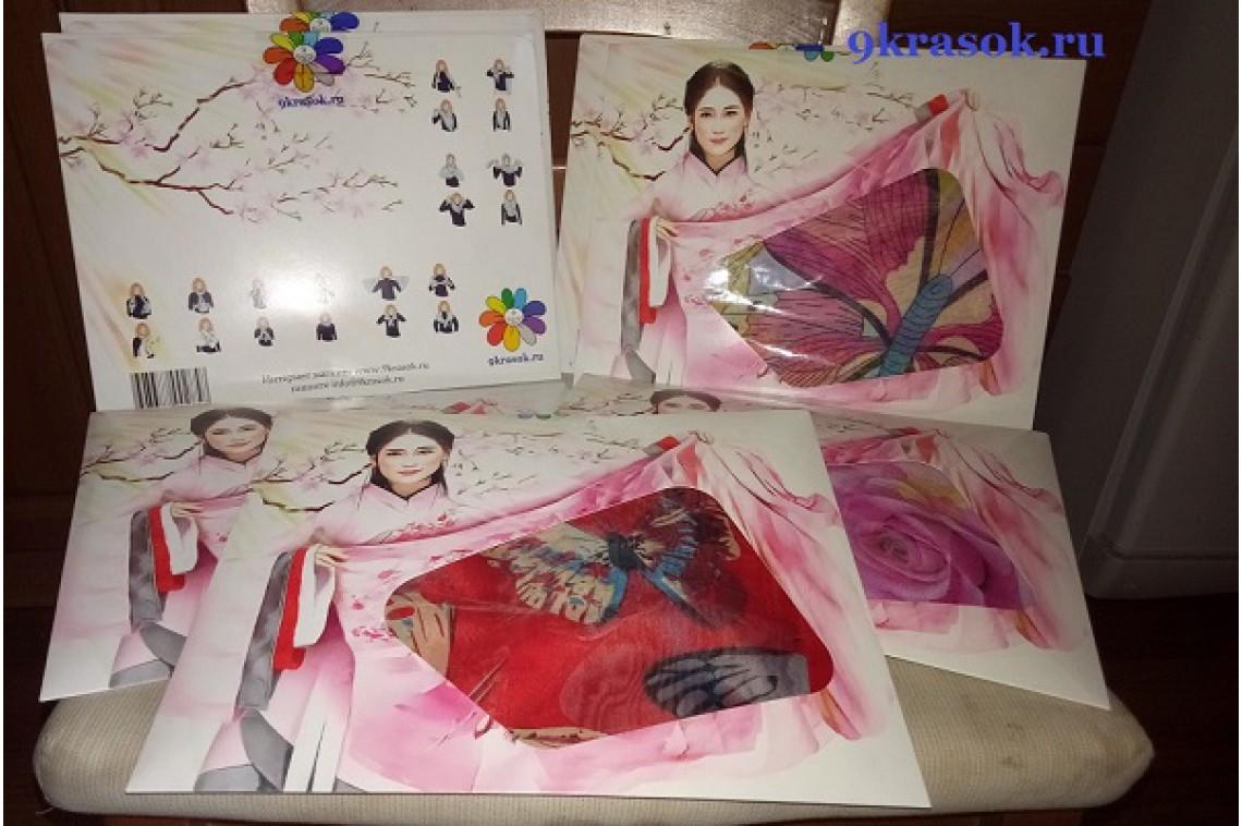 Шифоновый платок в конверте