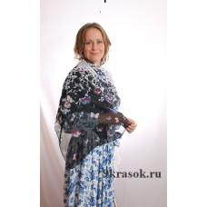 Белый шифоновый шарф платок с бабочками в конверте